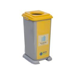 70 Litre Plastik Sıfır Atık Geri Dönüşüm Kovası Plastik